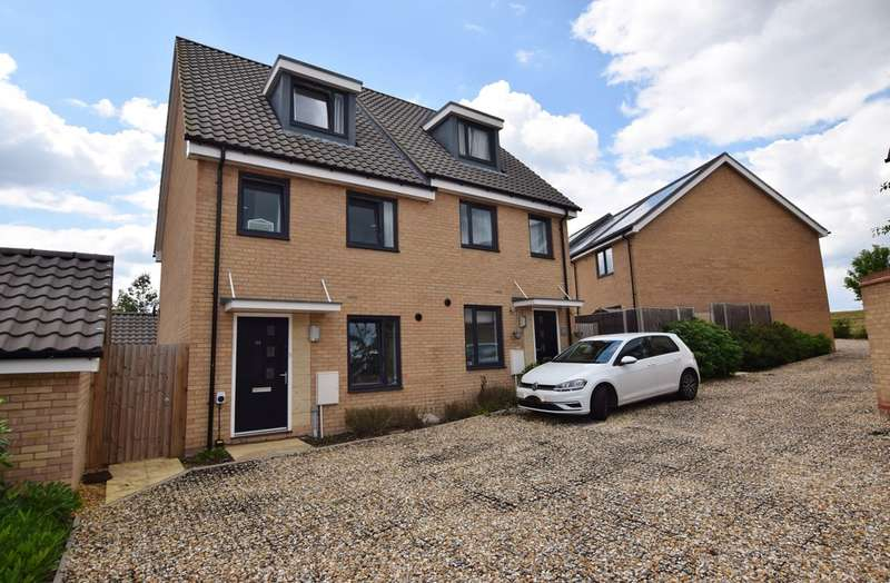 3 Bedrooms Town House for sale in Darwin Walk, Withersfield, Haverhill