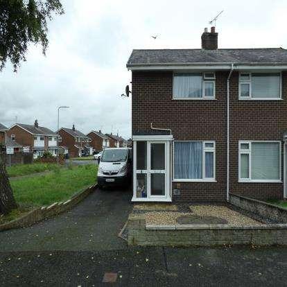 2 Bedrooms Semi Detached House for sale in Caeau Bach, Caernarfon, Gwynedd, LL55