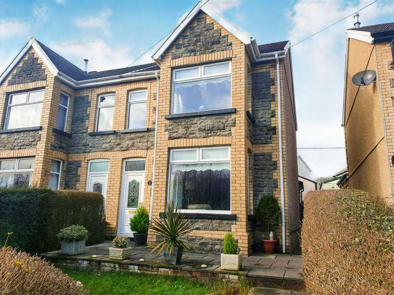 4 Bedrooms Semi Detached House for sale in Gwerthonor Road, Gilfach, Bargoed