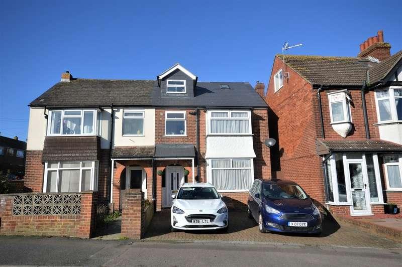 4 Bedrooms Semi Detached House for sale in Risborough Lane, Cheriton, Folkestone
