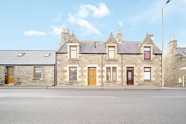 Semi Detached House for sale in Moss Street, Keith, Banffshire, AB55 5HF