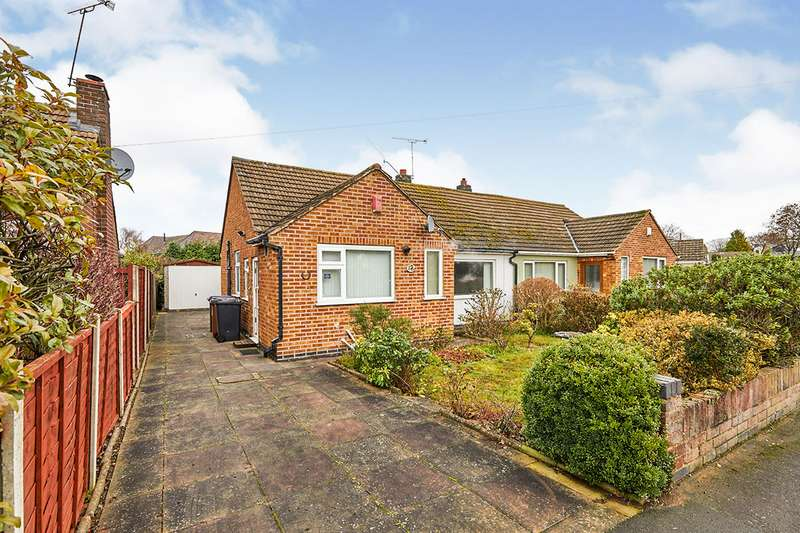 2 Bedrooms Semi Detached Bungalow for sale in Applebee Road, Burbage, Hinckley, Leicestershire, LE10