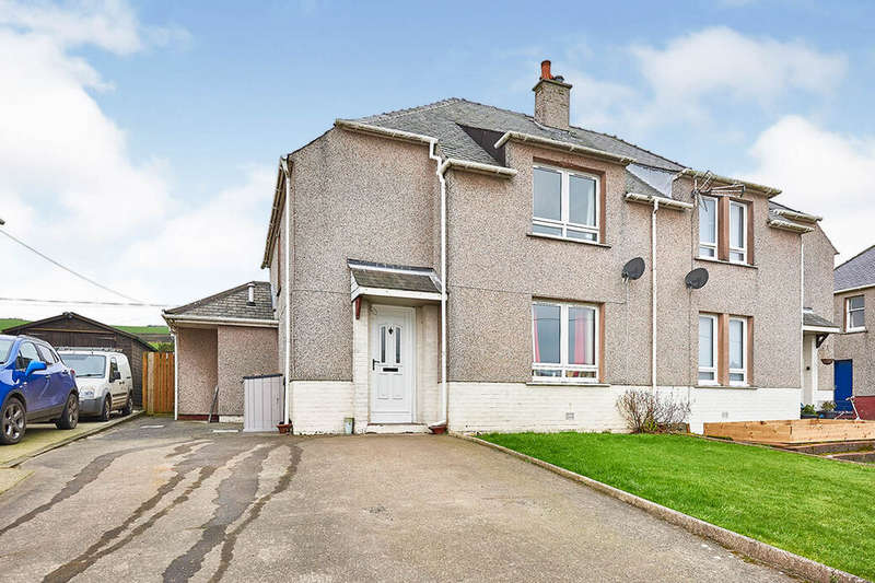 3 Bedrooms Semi Detached House for sale in Stair Street, Drummore, Stranraer, Dumfries and Galloway, DG9
