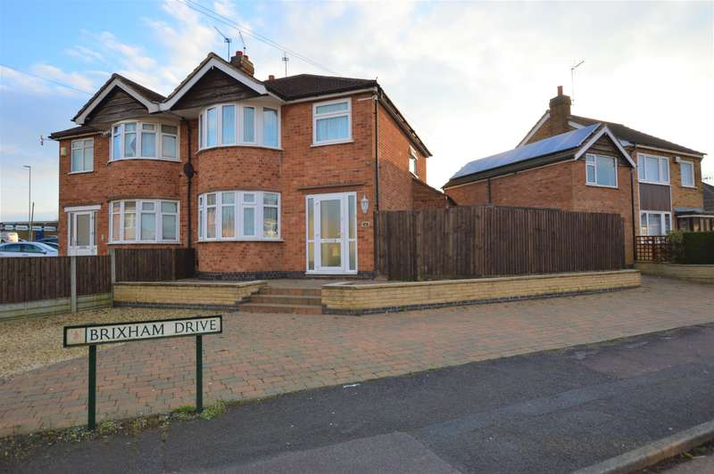 4 Bedrooms Semi Detached House for sale in Brixham Drive, Wigston, LE18 1BH