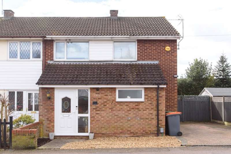 3 Bedrooms Semi Detached House for sale in Knights Avenue, Clapham, Bedford, Bedfordshire, MK41