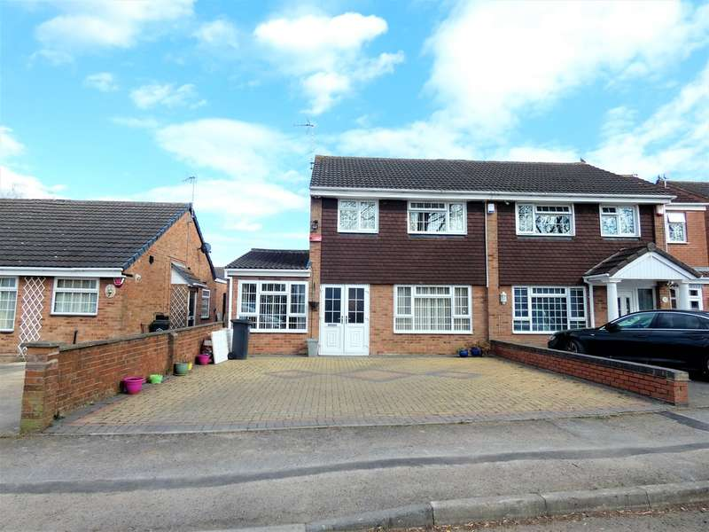 5 Bedrooms Semi Detached House for sale in Gilbert Close , Rushey Mead, Leicester