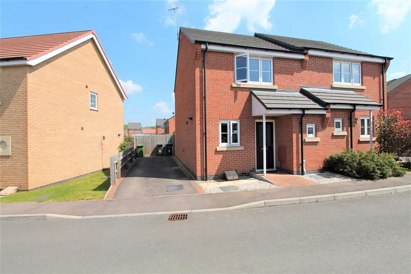 2 Bedrooms Semi Detached House for sale in Jasmine Way, Thurnby, Leicester LE7