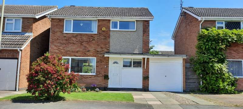 3 Bedrooms Detached House for sale in Hazel Drive, Lutterworth, Leicestershire, LE17