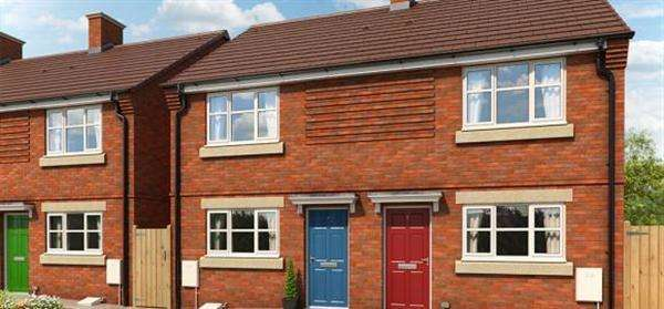 2 Bedrooms Semi Detached House for sale in The Buttercup, Briars Walk, Cannock