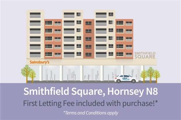 1 Bedroom Flat for sale in Smithfield Square, Hornsey, N8