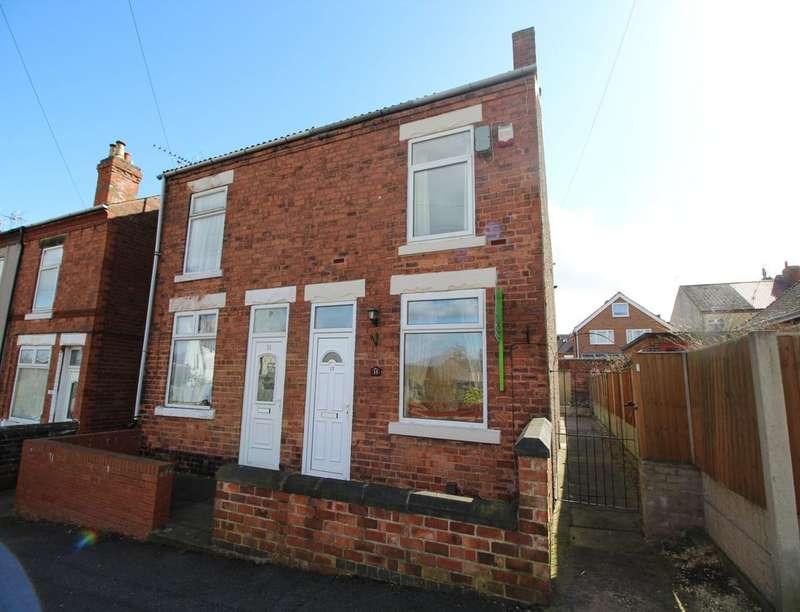 2 Bedrooms Semi Detached House for sale in Gladstone Street, South Normanton, Alfreton, DE55
