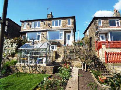 3 Bedrooms Semi Detached House for sale in Woodroyd Gardens, Luddendenfoot, Halifax, West Yorkshire