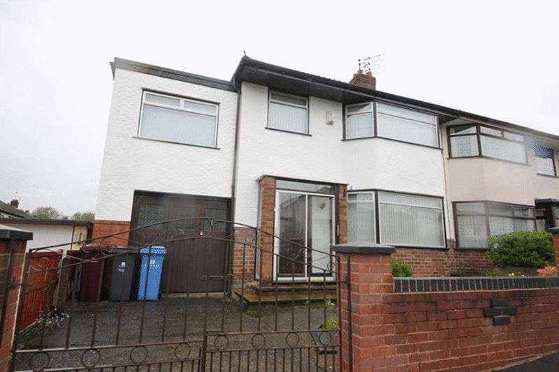 4 Bedrooms Semi Detached House for sale in Marina Crescent, Huyton, Liverpool, L36
