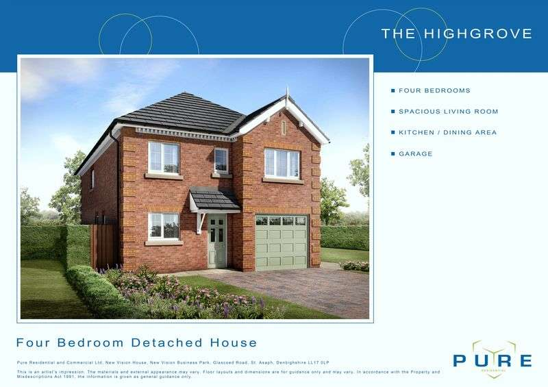 4 Bedrooms Semi Detached House for sale in Plot 16, Llys Chatsworth