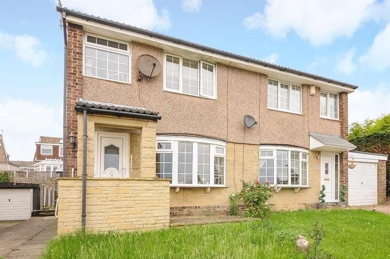 3 Bedrooms Semi Detached House for sale in Woodlea View, Yeadon, Leeds, LS19 7LS