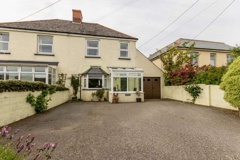 3 Bedrooms Semi Detached House for sale in FAMILY HOME WITH VIEWS IN WADEBRIDGE
