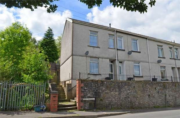 3 Bedrooms End Of Terrace House for sale in Noel Terrace, Aberfan, Merthyr Tydfil, Mid Glamorgan