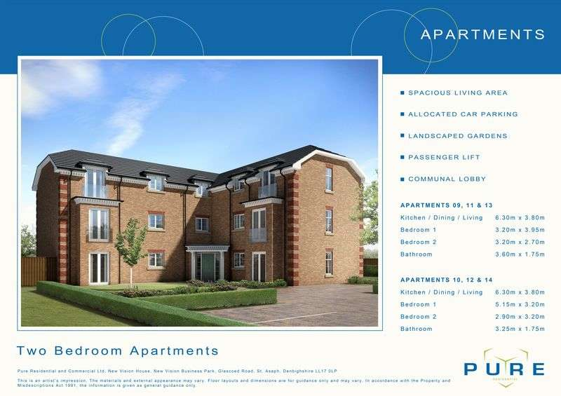 2 Bedrooms Flat for sale in Plot 9, Llys Chatsworth, Prestatyn