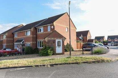 3 Bedrooms End Of Terrace House for sale in De Havilland Avenue, Shortstown, Bedford, Bedfordshire