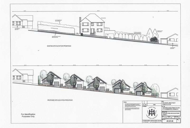 5 Bedrooms Commercial Property for sale in Development Site for the construction of five detached chalet bungalows, Sidmouth