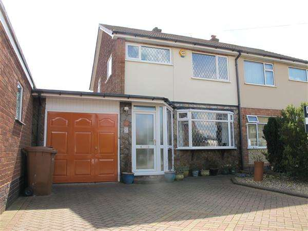 3 Bedrooms Semi Detached House for sale in Middleton Road, Brownhills, Walsall