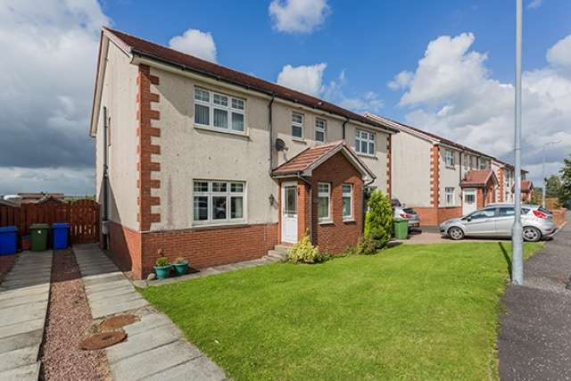 3 Bedrooms Semi Detached House for sale in Buntens Close, Cumnock, East Ayrshire, KA18 3ES