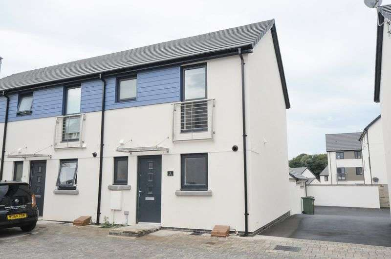 2 Bedrooms House for sale in Murhill Lane, Plymstock. Modern Two bed end of terrace house