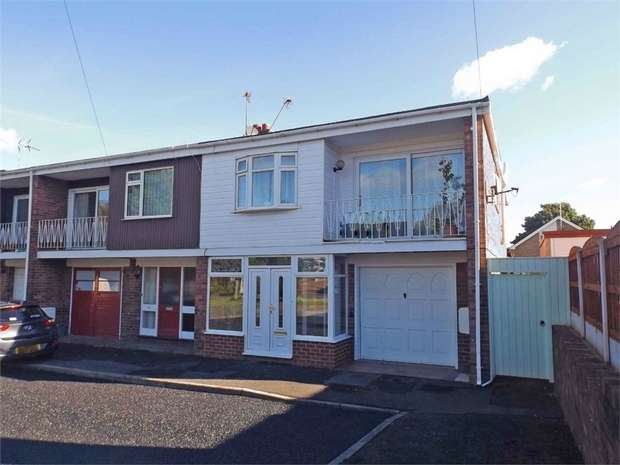 3 Bedrooms End Of Terrace House for sale in Snowdon Drive, Wrexham