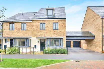 4 Bedrooms Semi Detached House for sale in Selkirk Drive, Oakridge Park, Milton Keynes