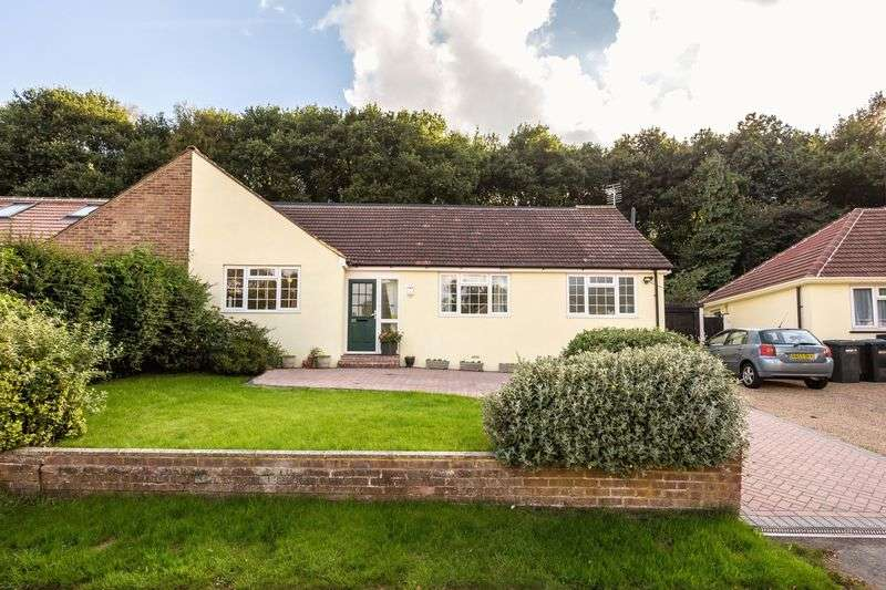 5 Bedrooms Semi Detached Bungalow for sale in Harpesford Avenue, Virginia Water, Surrey, GU25 4RA.