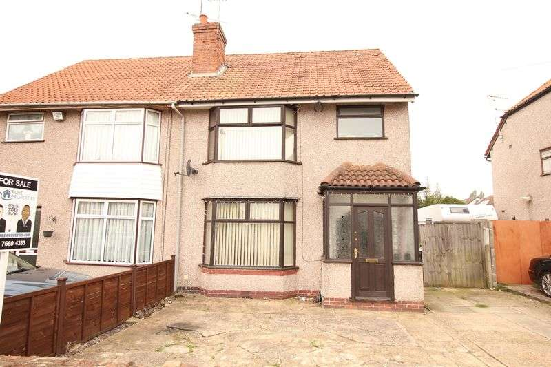 3 Bedrooms Semi Detached House for sale in Beech Tree Avenue, Tile Hill, Coventry, CV4 9FE