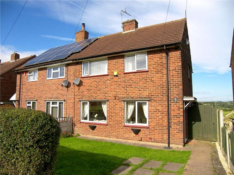 3 Bedrooms Semi Detached House for sale in Derwent Drive, Tibshelf, Alfreton, Derbyshire, DE55