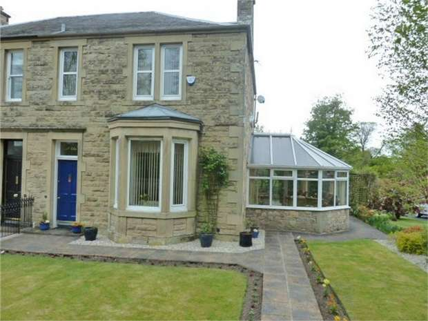 3 Bedrooms Semi Detached House for sale in Oxnam Road, Jedburgh, Scottish Borders