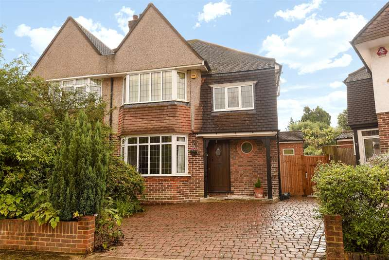 3 Bedrooms Semi Detached House for sale in Anglesmede Way, Pinner, Middlesex, HA5