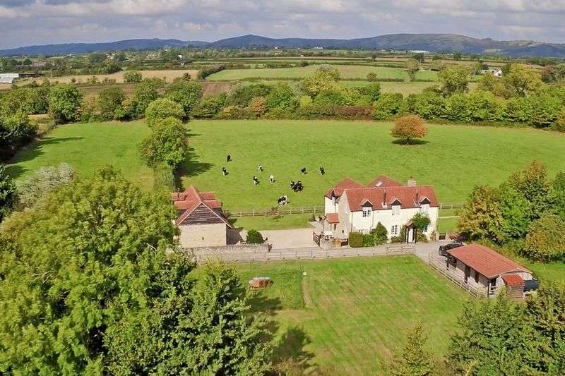 4 Bedrooms Detached House for sale in Middle Stoughton, Near Wedmore, Somerset, BS28 4PT