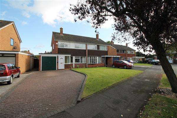 3 Bedrooms Semi Detached House for sale in Sherwell Drive, Alcester, Alcester