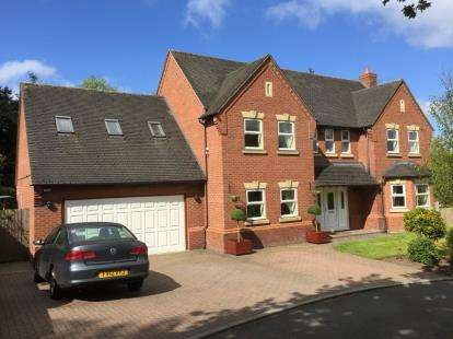 5 Bedrooms Detached House for sale in Oaktree Drive, Loggerheads, Market Drayton, Staffordshire