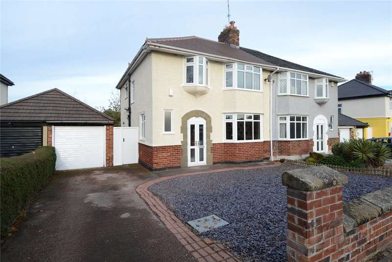 4 Bedrooms Semi Detached House for sale in Arrowe Road, Greasby, Wirral