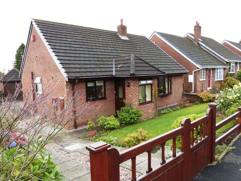 2 Bedrooms Detached Bungalow for sale in 7 Hillside Close, Mow Cop, Staffordshire. ST7 4PQ