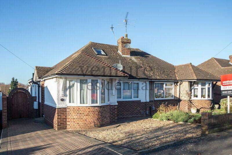 3 Bedrooms Semi Detached Bungalow for sale in Derwent Avenue, Luton, Bedfordshire, LU3 2DX