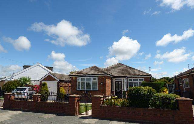 2 Bedrooms Detached Bungalow for sale in Elderwood Avenue, Thornton Cleveleys, Lancashire, FY5 5EQ