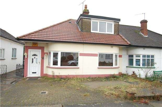 2 Bedrooms Semi Detached Bungalow for sale in Parkfields Avenue, KINGSBURY, NW9 7PH