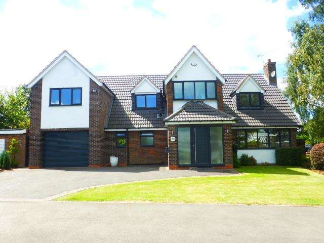 4 Bedrooms Detached House for sale in Leigham Drive, Harborne, Birmingham, West Midlands, B17 8AX