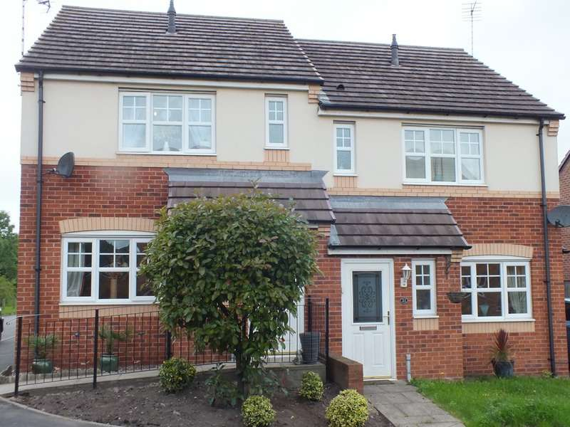 3 Bedrooms Semi Detached House for sale in Sparrowhawk Way, Cannock, Staffordshire, WS11