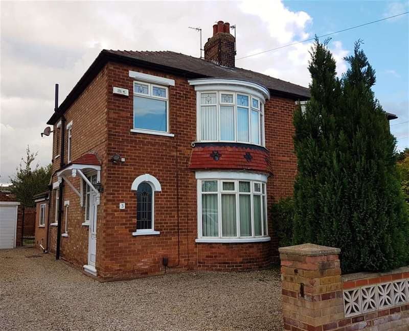 3 Bedrooms Semi Detached House for sale in Stoneleigh Ave, Acklam, Middlesbrough, TS5 8AR