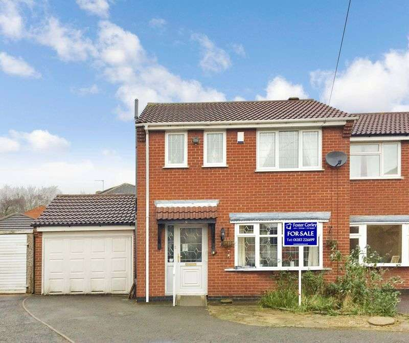 3 Bedrooms Semi Detached House for sale in The Tythe, Midway, Swadlincote