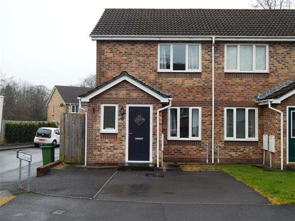 2 Bedrooms Semi Detached House for sale in Cae Garw, Rowan Gardens, Llantwit Fardre, Pontypridd