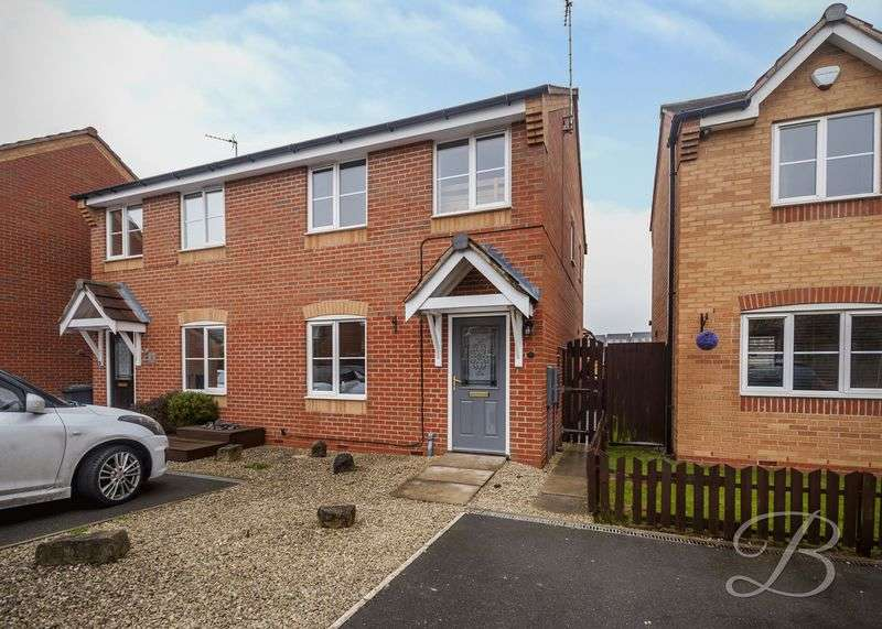 3 Bedrooms Semi Detached House for sale in Lupin Close, Shirebrook
