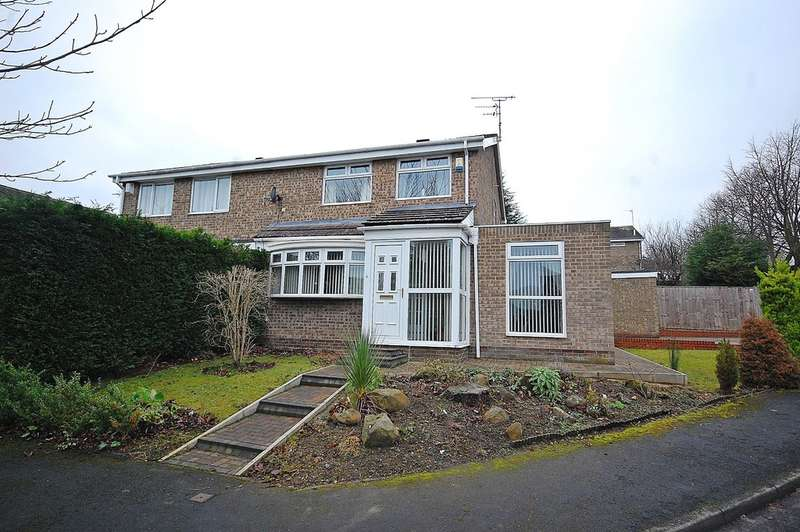 3 Bedrooms Semi Detached House for sale in Lindisfarne Road, Newton Hall, Durham
