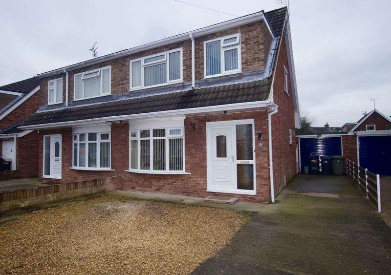 3 Bedrooms Semi Detached House for sale in Chestnut Road, Bradley, Wrexham